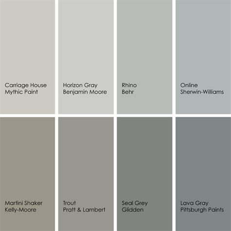 paint colors grey best gray paint colors designers use most beautiful