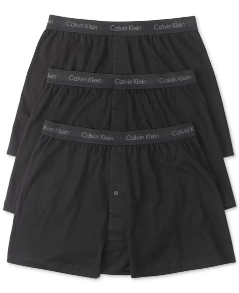 calvin klein knit boxers calvin klein s classic knit boxers 3 pack nu3040 in
