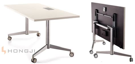 foldable office desk china with multi purpose socket on table top mobile office