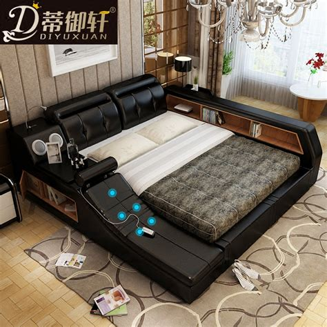 bed bed di yuxuan smart leather tatami bed bed 1 8