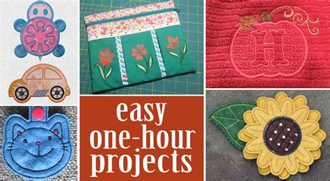 one hour craft projects 1 hour embroidery projects