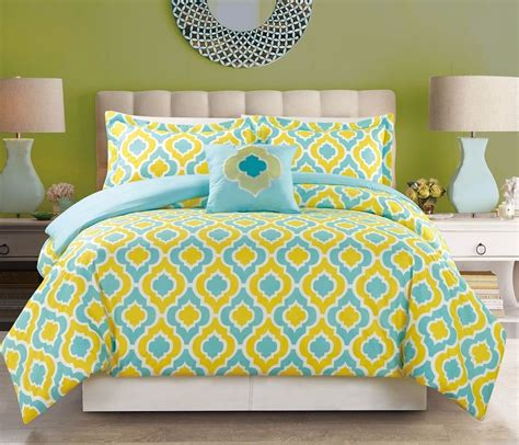 yellow king comforter sets 4 bedding turquoise blue yellow king size comforter