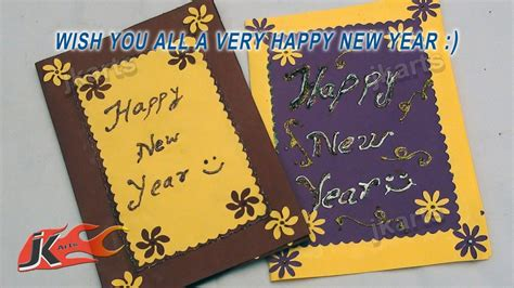 how to make a new year card diy punch craft new year greeting card school project