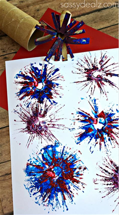 fireworks craft for toilet paper roll fireworks craft for crafty morning
