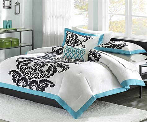 black white and blue comforter sets chic black and white bedding for