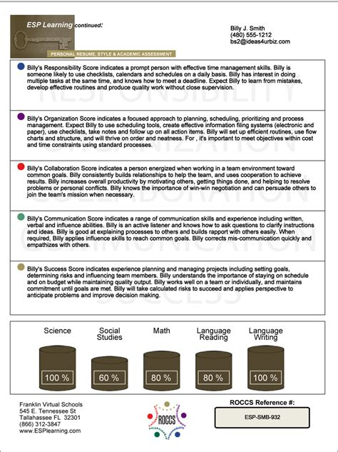 a sample of resume roccs report card resume high home hsed