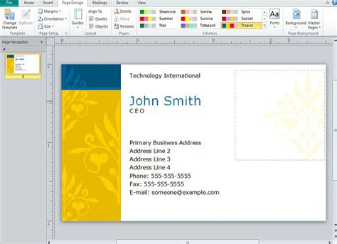 how to make business cards in publisher creating business cards in microsoft publisher