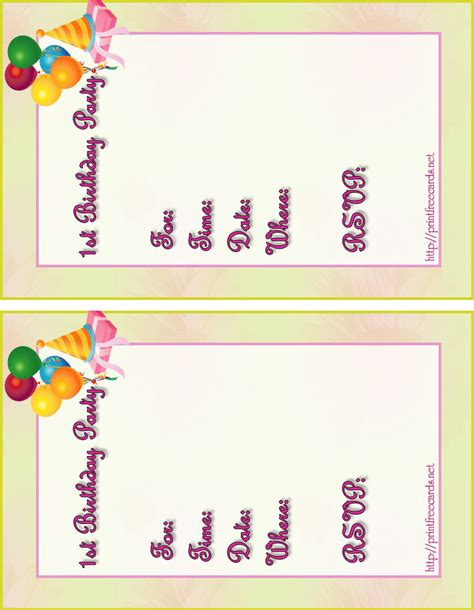 make a birthday invitation card free birthday card best free printable birthday invitation
