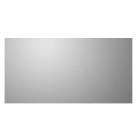 stainless steel backsplash lowes shop broan 24 in x 30 in stainless steel metal kitchen
