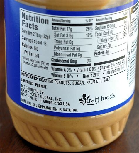 planters peanuts nutrition nutrition facts peanut butter indicate it s for you