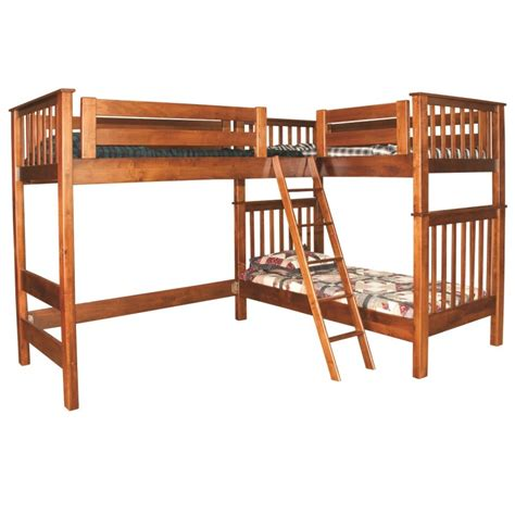 l shaped loft bunk bed l shaped loft bunk bed amish handcrafted country