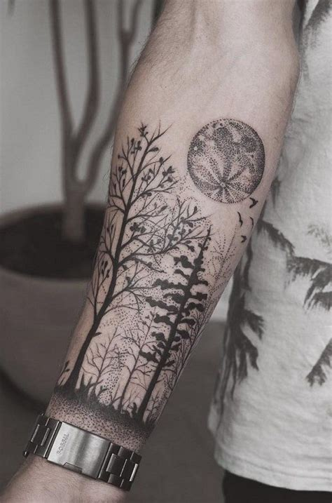 the 25 best forest forearm tattoo ideas on pinterest