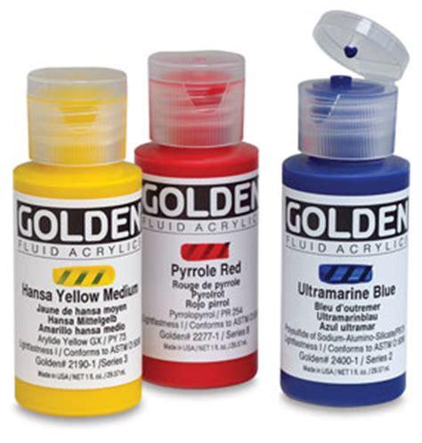 blick acrylic paint blick presents golden fluid acrylics review