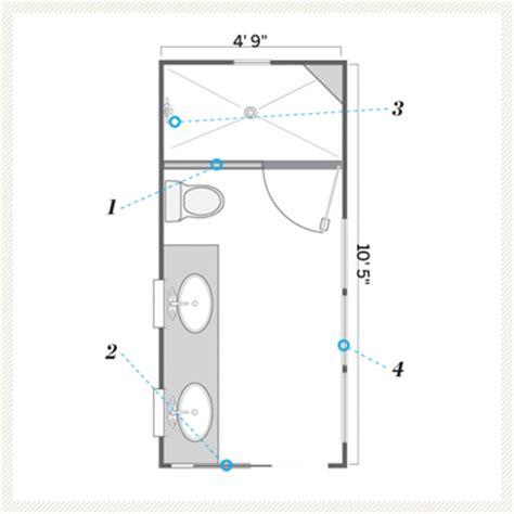 narrow bathroom floor plans floor plan after a bath that s still narrow but