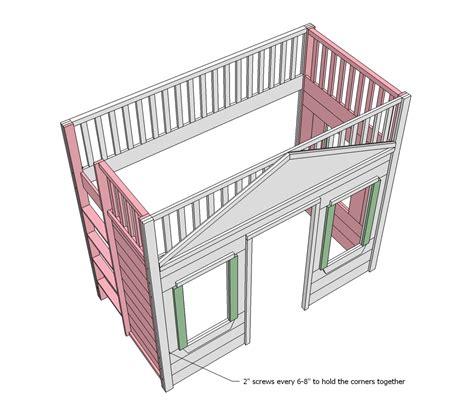 loft bed woodworking plans woodwork cottage loft bed plans pdf plans