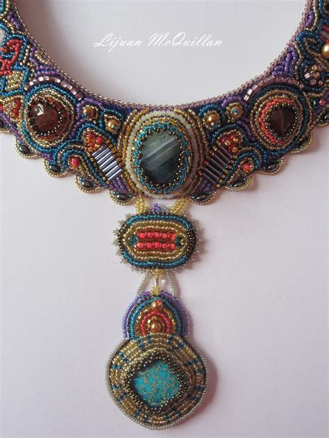 beaded embroidery bead embroidery jewelry wearable bead embroidery