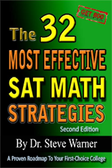 sat prep black book the most effective sat strategies published sat prep free chapters from books by dr steve warner