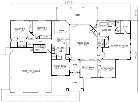 2800 sq ft house plans mediterranean style house plan 4 beds 2 5 baths 2800 sq