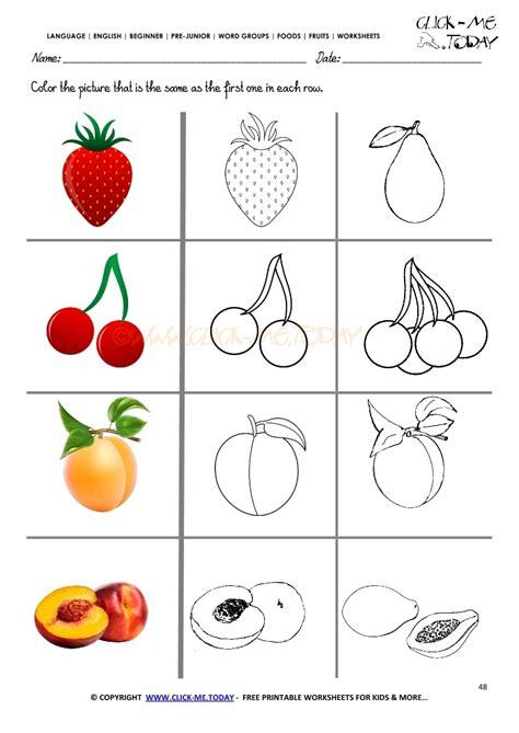for printables fruits worksheet 48 same fruit worksheet
