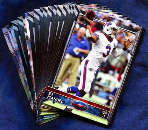 how to make a football card 2015 topps buffalo bills nfl football card team set