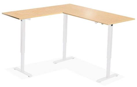 l shaped standing desk l shaped standing desk shop uplift 950 height adjustable