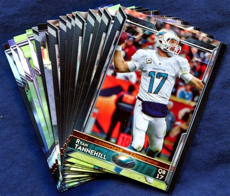 how to make a football card 2015 topps miami dolphins nfl football card team set