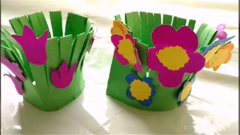 paper craft work for children easy paper craft flower garden for paper