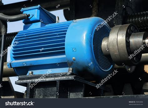 Big Electric Motor by Big Electric Motor Stock Photo 45853696