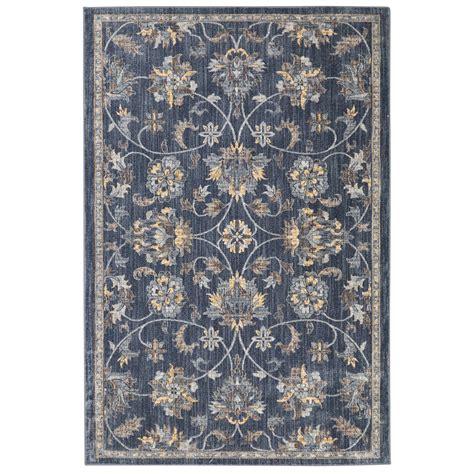 7 x 8 area rugs shop allen roth isburg denim rectangular indoor woven