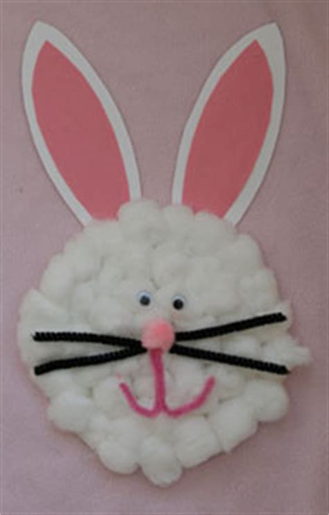 rabbit craft projects preschool crafts for cotton paper plate easter
