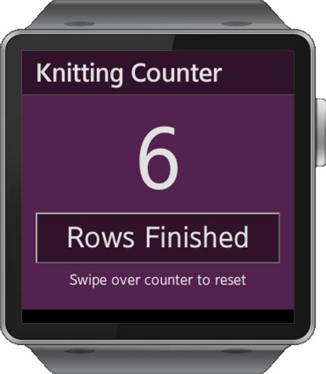 knitting row counter app samsung gear smartwatch app knitting puppy row counter