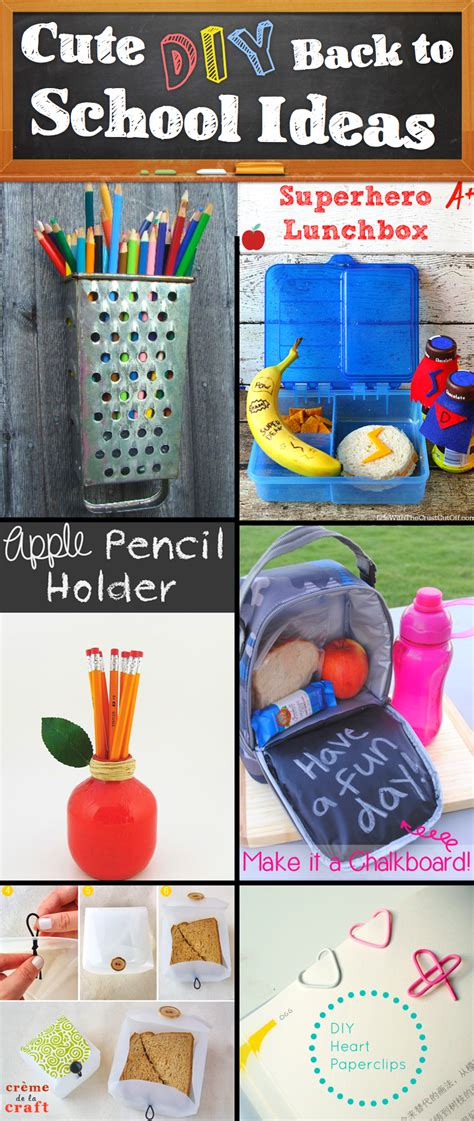 30 Creative And Diy Back To School Ideas Diy