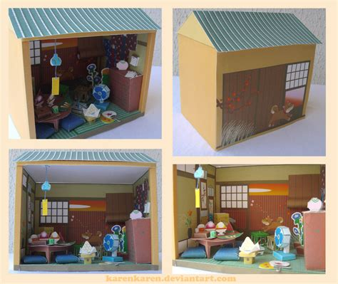 paper craft japan papercraft japanese house by karenkaren on deviantart