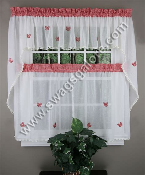 butterfly kitchen curtains butterfly gingham curtains blue lorraine tiers swags
