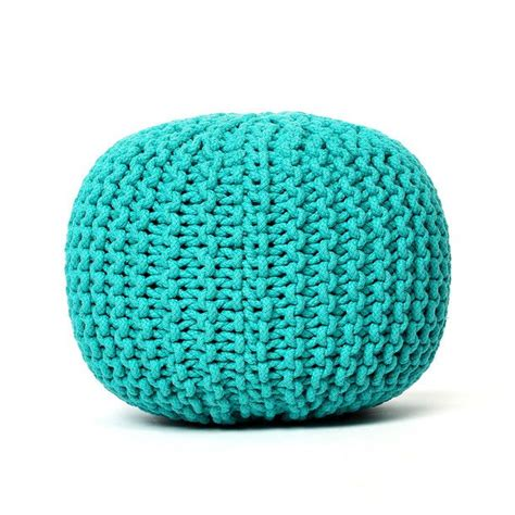 turquoise knitted pouf knitted pouf turquoise the o jays for the and poufs
