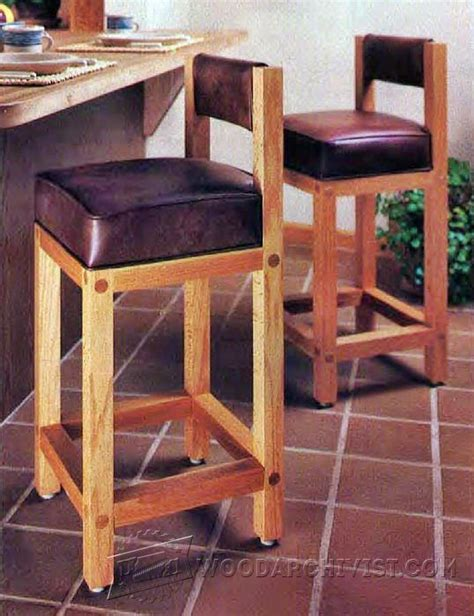 bar stool woodworking plans bar stool plans woodarchivist