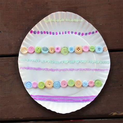 paper easter egg crafts paper plate easter egg family crafts