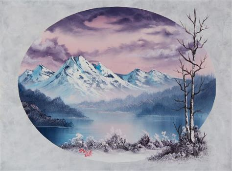 bob ross painting on black canvas black canvas paintings bob ross images