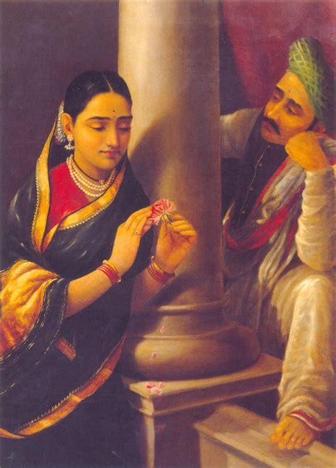 indian painting my dreams raja ravi varma arts indian paintings