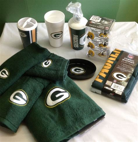 green bay packers bathroom accessories green bay packers bath 21 set soap shower curtain