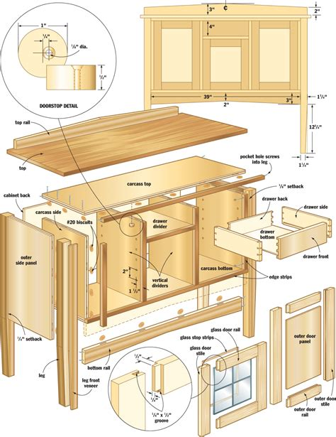 woodworking styles mission sideboard woodworking plans woodshop plans