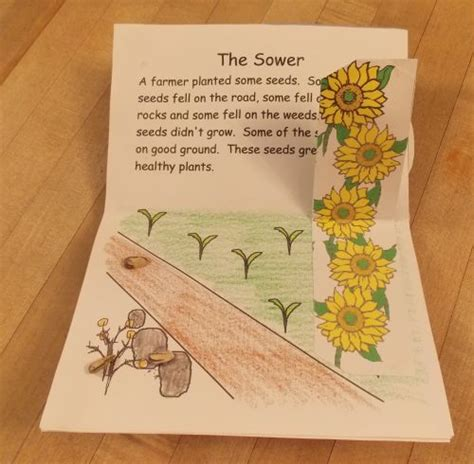 parable of the sower crafts for parables of jesus pop up book sower they a lot of
