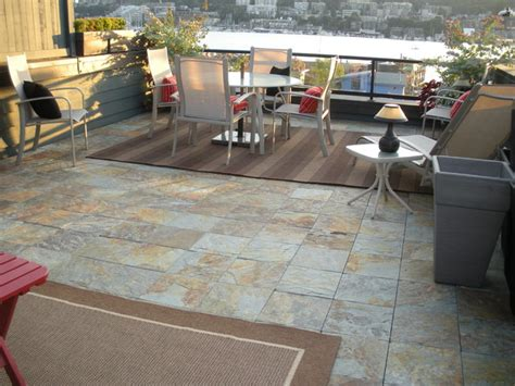 modern patio tiles interlocking slate deck tiles on patio modern patio