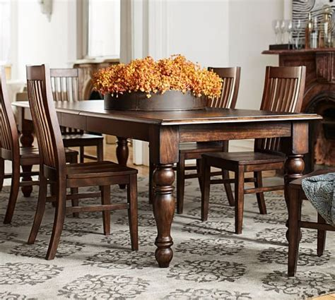 dining room table pottery barn extending rectangular dining table pottery barn
