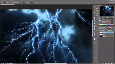 thunder in use creating realistic lightning effect in photoshop tutorial