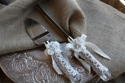 wedding cake knife and server set with wedding cake server and knife set country rustic chic