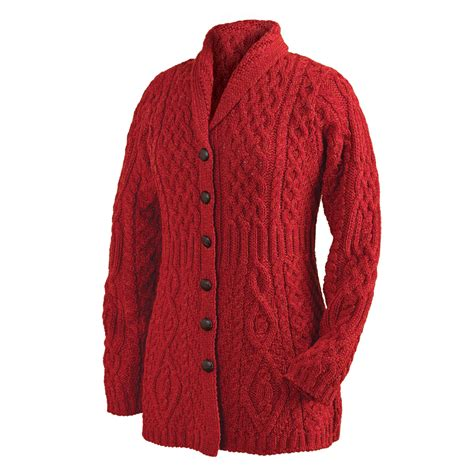 how to knit collar on sweater cardigan shawl collar button cable knit sweater ebay