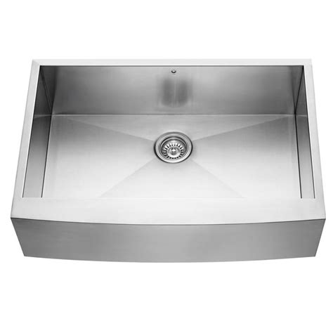 stainless steel apron front kitchen sink shop vigo 33 in x 22 25 in stainless steel single basin