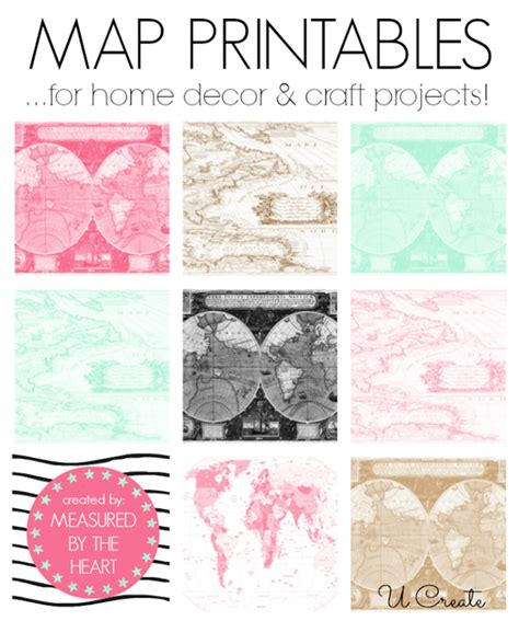 map crafts for free map printables