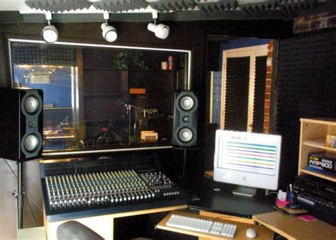 small studio pro tools studio with analog console small room